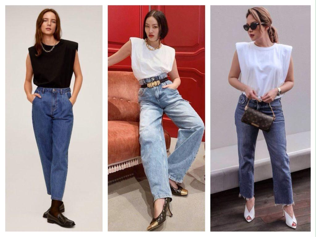 в паре с джинсами