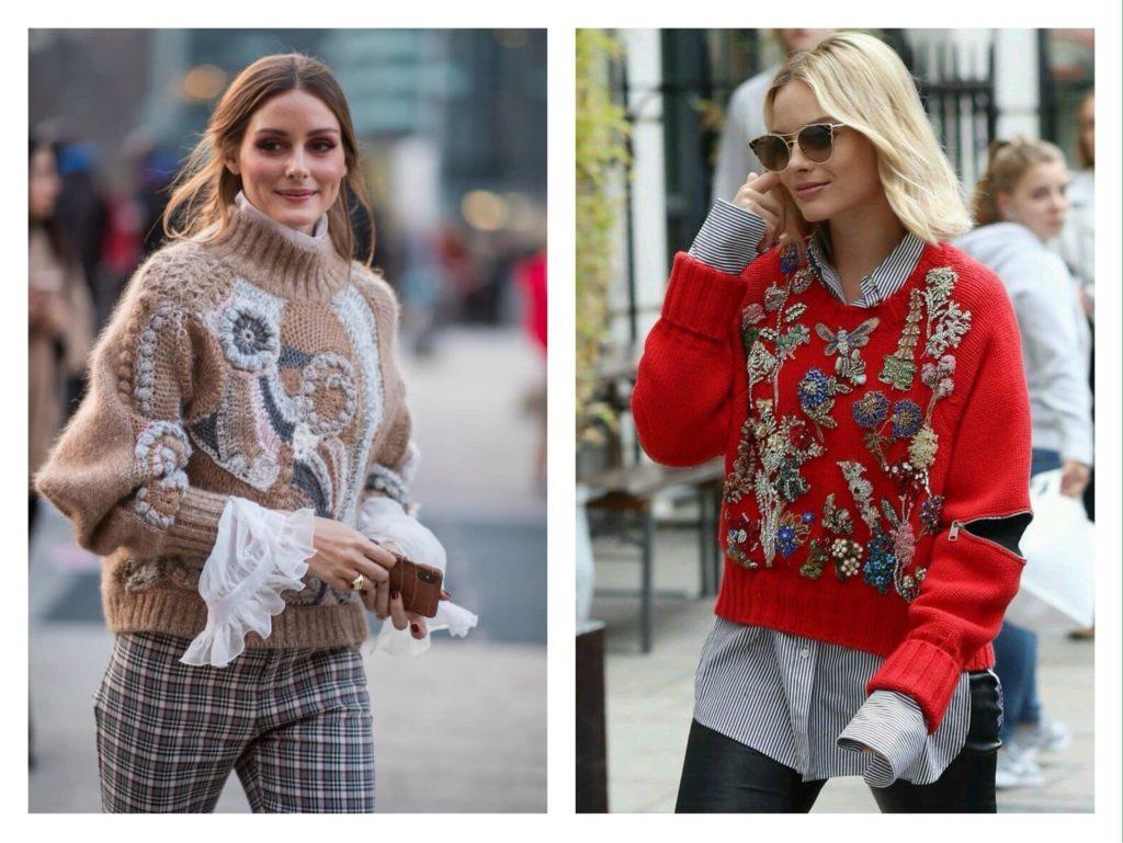 акцентные модели свитеров