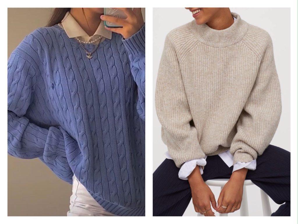 как носить свитер фото