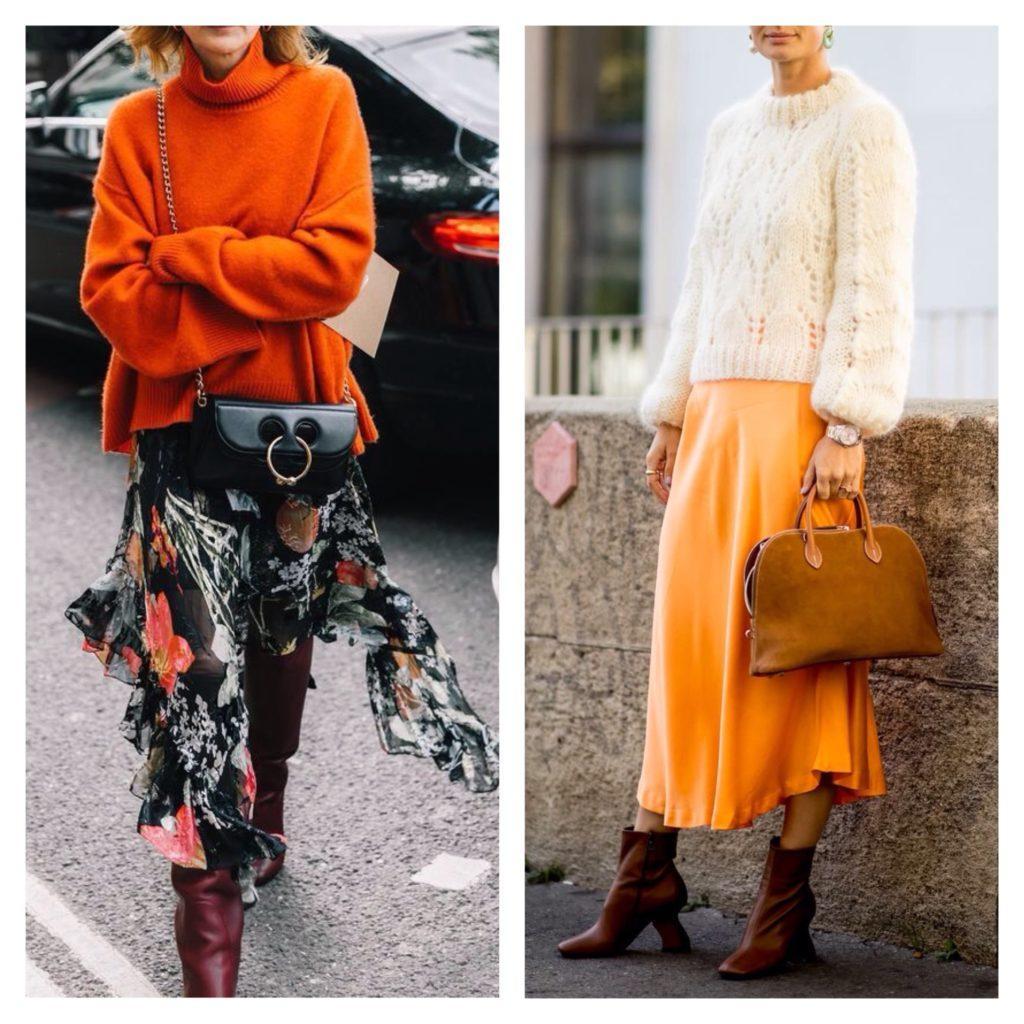 комплекты свитер и юбка фото