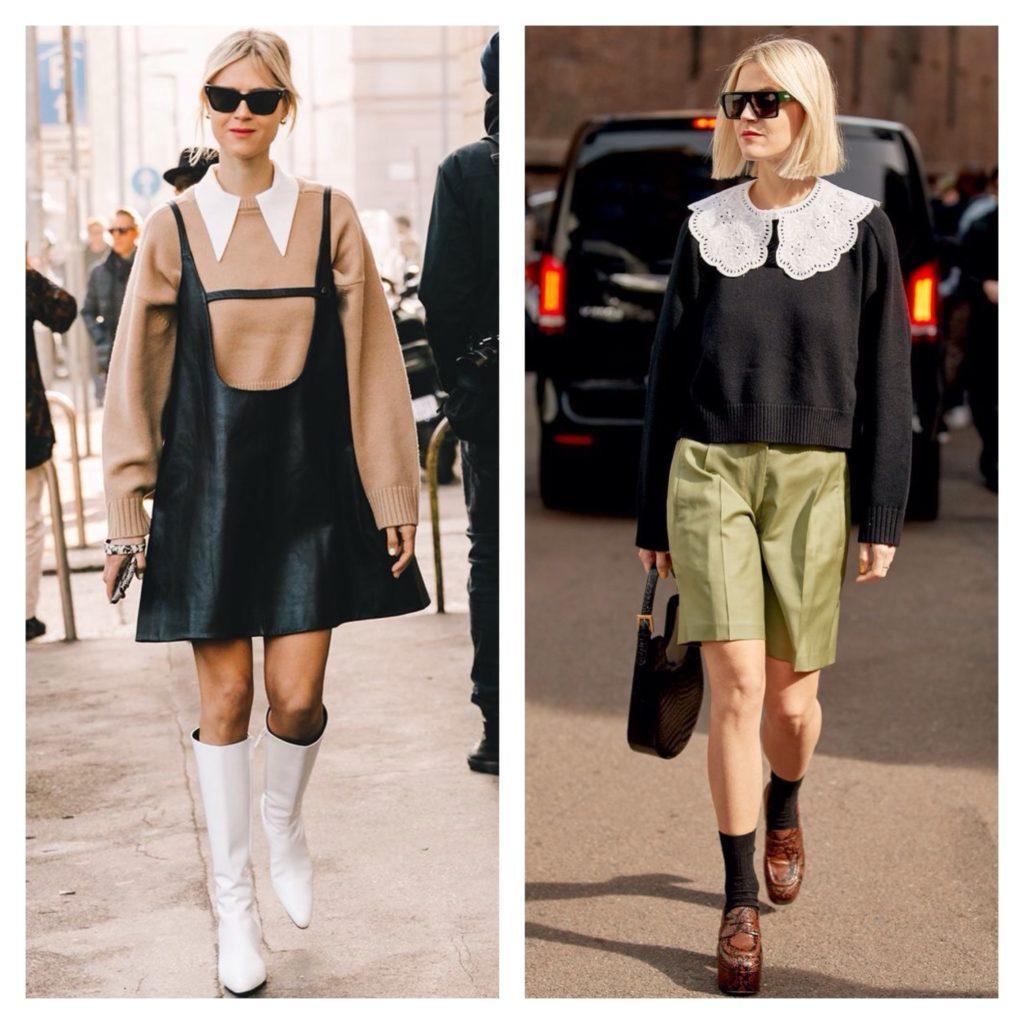 свитер и съемный воротник