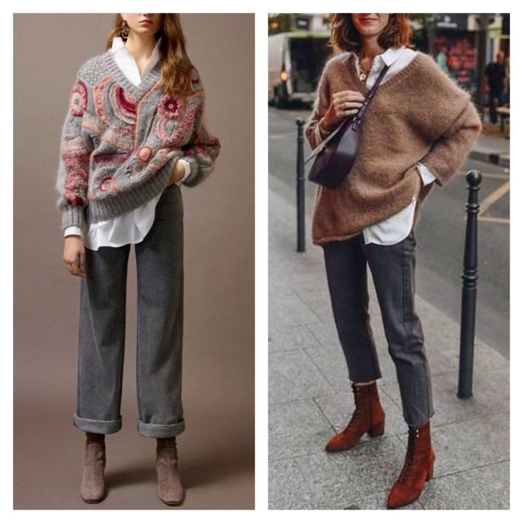 свитер с джинсами фото