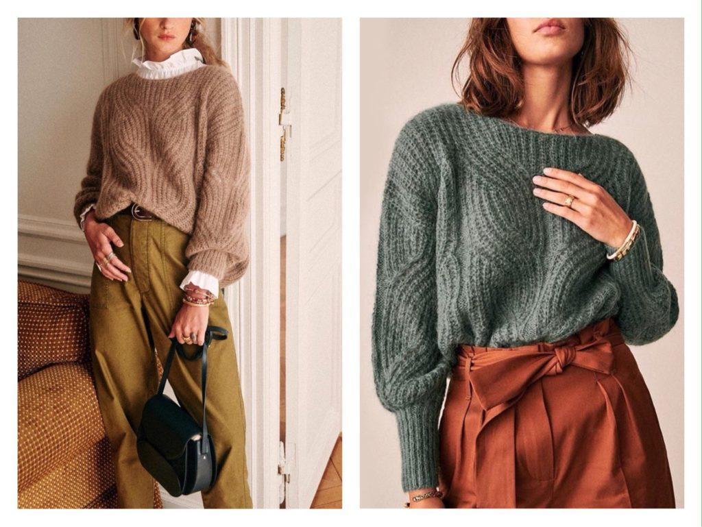 заправляем свитер