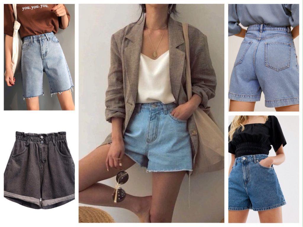 джинсовые шорты 2021
