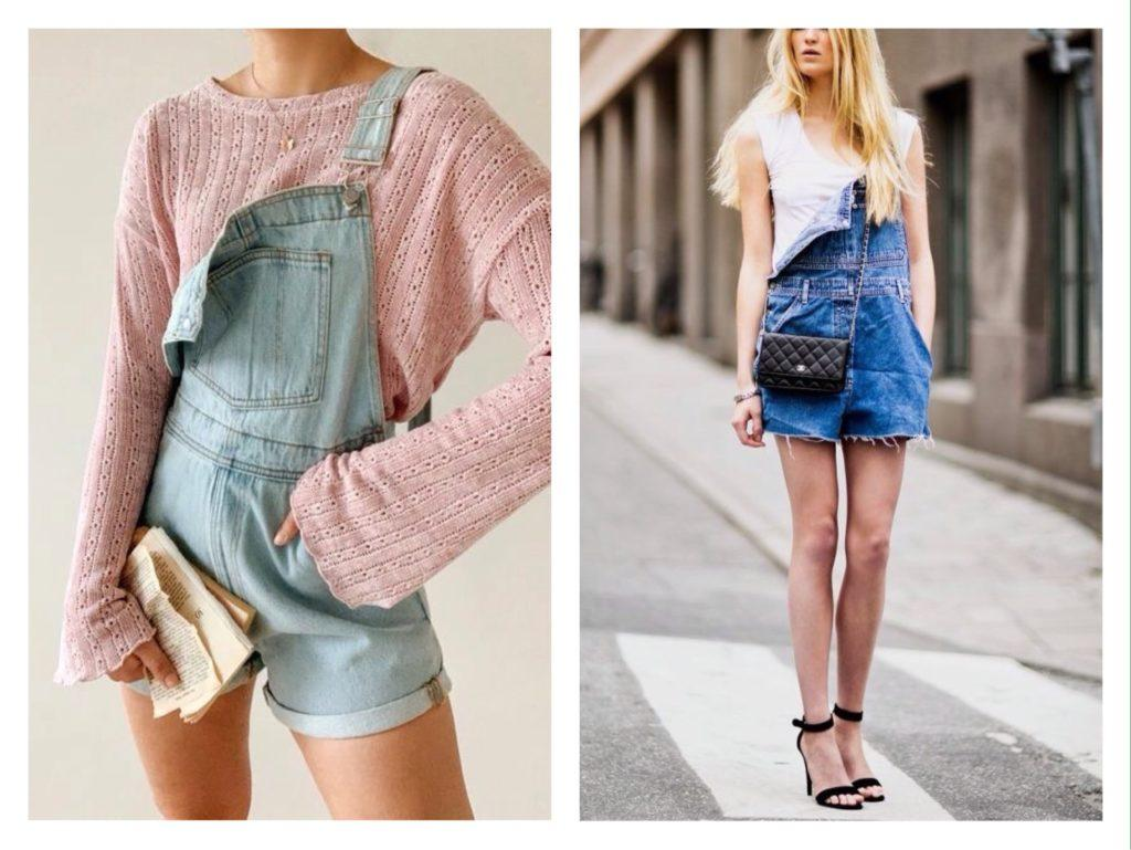джинсовый комбинезон с шортами